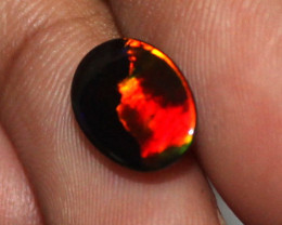 1.10 Crt Natural Ethiopian Welo Fire Smoked Opal Cabochon 1742