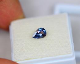 0.93Ct Violet Blue Tanzanite Pear Cut Lot LZ2070