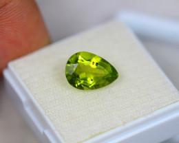 3.31Ct Green Peridot Pear Cut Lot LZ2080