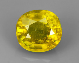 2.40 CTS AMAZING RAREST ! TOP FIRE NATURAL-YELLOW COLOR SPHENE!!