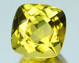 ~FABULOUS~ 1.27 Cts Natural Golden Heliodor Beryl Cushion Brazil