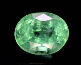 1.50 * Carats Natural Oval Cut Colombian Emerald Gemstone