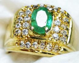 Natural Emerald Beryl Silver Bali 9.54g