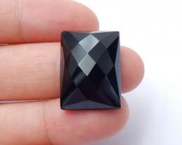 Faceted Obsidian Gemstone Cabochon ,Gemstone Cabochon ,Birthday Stone H4249