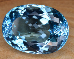 Natural Blue Topaz 32.89 Cts Top Clean Gemstone