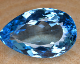 Natural Blue Topaz 33.84 Cts Top Clean Gemstone