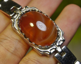 194.35 CT Indonesian Untreated Chalcedony AGATE Braclet Jewelry