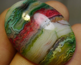 47.15 CT Beautiful Abstract Picture Agate Indonesian Gemstone