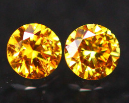 2.50mm Untreated VS2 Round Brilliant Cut Fancy Color Vivid Diamond A2104