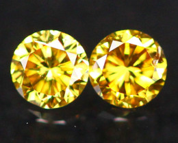 2.50mm Untreated VS Round Brilliant Cut Fancy Vivid Color Diamond A2110