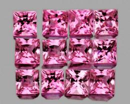 2.30 mm Square 12 pcs Pink Sapphire [VVS]