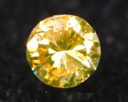 2.50mm Untreated Fancy Deep Greenish Brown Color Diamond E2101