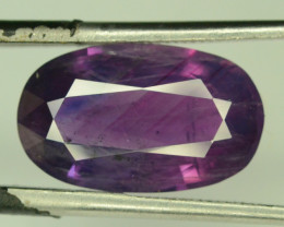 GRS Certified 5.89 ct Natural Pinkish-Purple Sapphire