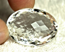 76.67 Carat Cushion Cut White African VVS Quartz - Gorgeous