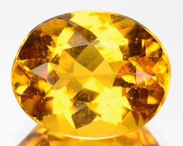 ~GLITTERING~ 3.39 Cts Natural Golden Beryl Oval Cut Brazil