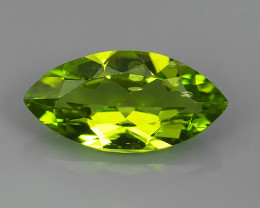 2.90 Cts.Magnificient Top Sparkling Intense Green Peridot!!