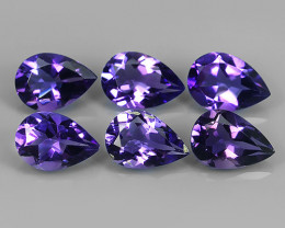 9.15 CTS AWESOME NATURAL PEAR PURPLE~VIOLET AMETHIYST GEM!!