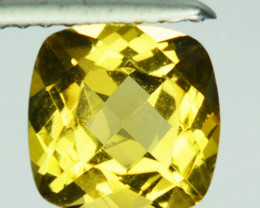 ~FABULOUS~ 1.24 Cts Natural Golden Heliodor Beryl Cushion Brazil
