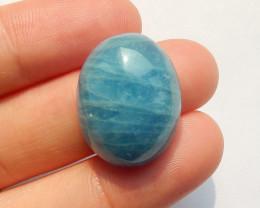 New,Blue Aquamarine Faceted Gemstone Cabochon,23x20x9mm B783