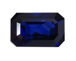 4.07 ct Emerald Cut Blue Sapphire  (Rich Royal Blue)
