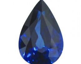 2.44 ct Pear Shape Blue Sapphire  (Rich Royal Blue)
