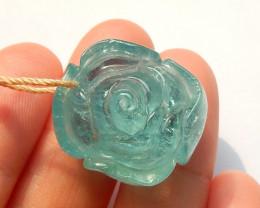 Flower Pendant, Aquamarine Flower, Gemstone Flower, Jewelry Pendant B784
