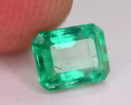 Superb Color 0.75 Ct Natural Emerald From Panjsher. ARA