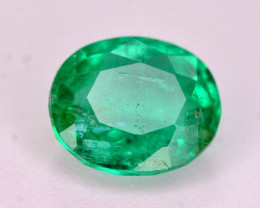 Amazing Color 0.65 Ct Natural Emerald From Panjsher. ARA