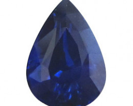 2.01 ct Pear Shape Blue Sapphire  (Rich Royal Blue)