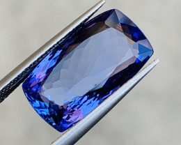 GGL Certified  7.25 Ct AAA Color Natural Tanzanite. ARA