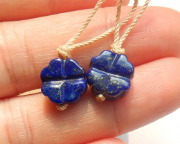Carved Rose Earrings, Carved Roses, Natural Lapis Lazuli, Gemstone Jeweller