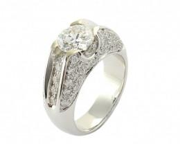 Gr 12.20   18 k White Gold with Diamonds .    FB28