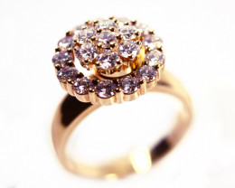 Rotating Ring Gr 9.0 18 k Gold with Diamonds . FB92