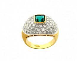 Gr 9.0 18 k Yellow Gold with Diamonds . FB15