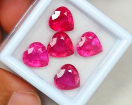 11.88Ct Ruby Composite Heart Cut Lot B15/31