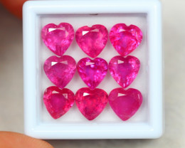 16.65Ct Ruby Composite Heart Cut Lot B15/33