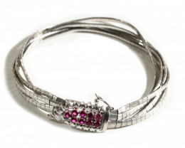 Gr  31.00   18 k White Gold with Ruby     FA401