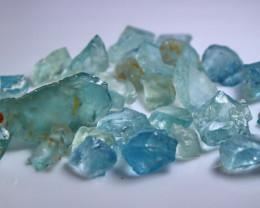 84.80 CT Natural & Unheated Blue Aquamarine Rough lot