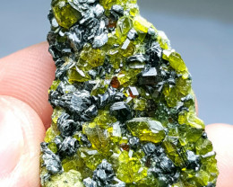 Lovely Garnet with Epidote have supreme Luster 97 Cts - Afghanistan
