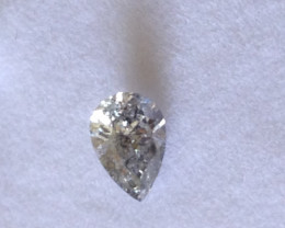 Certified Natural Fancy Silver Diamond 0.56ct.