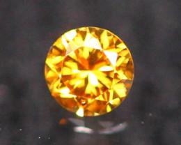 2.30mm Untreated VS Round Brilliant Cut Fancy Vivid Color Diamond B2209
