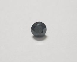 Certified Black diamond 0.90 carats 5.5mm round #bdc3
