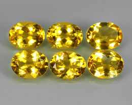 10.35 CTS DAZZLING TOP NATURAL YELLOW CITRINE OVAL BRAZIL NR!!!