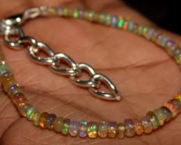 21 Crt Natural Ethiopian Welo Fire Opal Beads Bracelet 15
