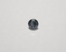Certified Black diamond clean 1.01 carats 6.3mm round #bdc9