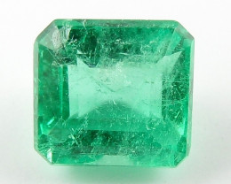 0.74 ct Natural Colombian Emerald Green Gem Loose Gemstone Stone