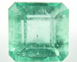 3.38 ct Natural Colombian Emerald Green Gem Loose Gemstone Stone