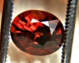 2.05 Carat Orangy Red VVS Spessartite Garnet