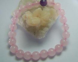 Rose Quartz and Amethyst Stone 8 mm