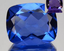 6.50 Cts Natural Color Change Fluorite Cushion Cut Afghanistan